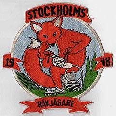"""Нашивка участников первого чемпионата Швеции по """"Охоте на лис"""" 1948 года"""